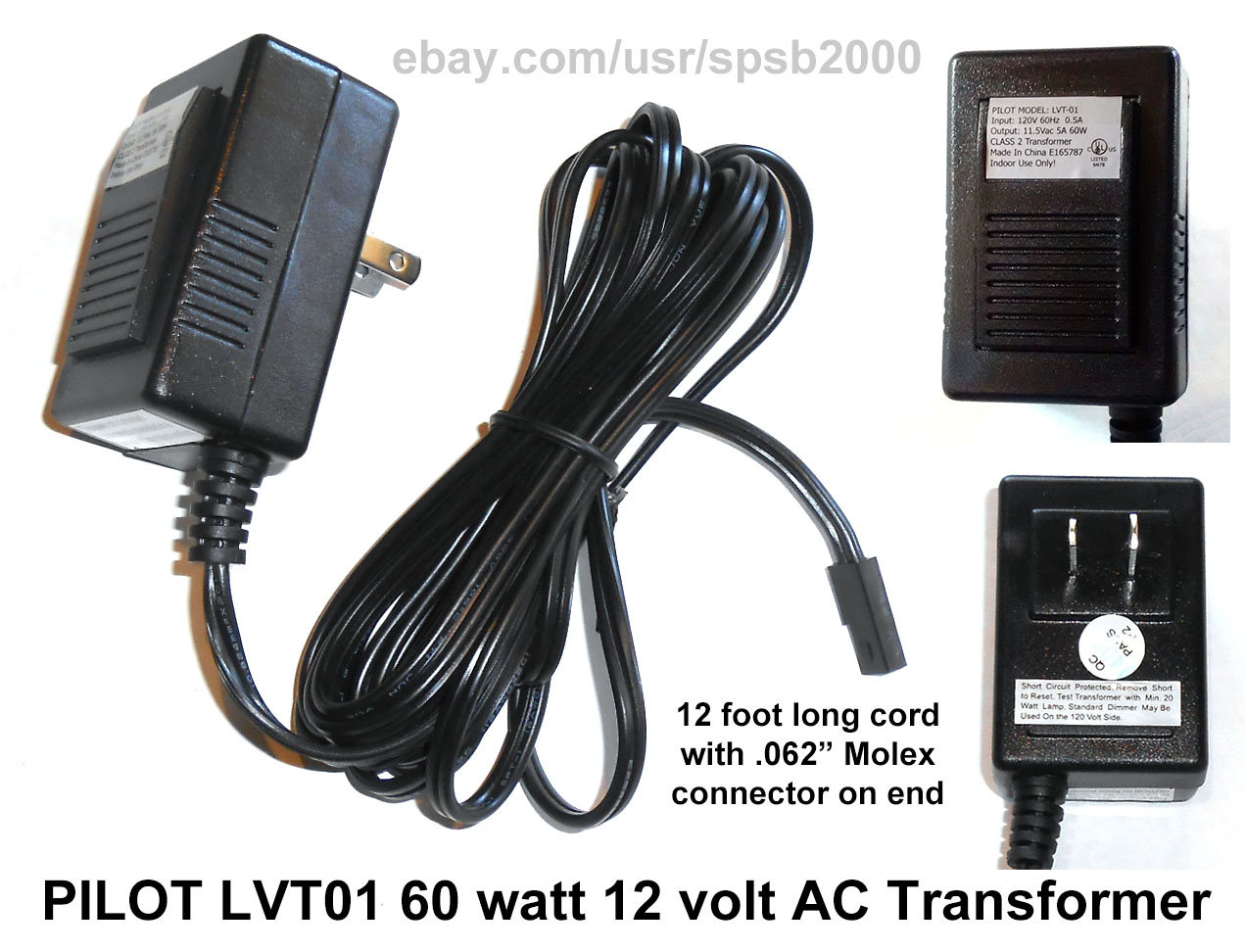 Outdoor lighting transformers 12v democraciaejustica 60watt 12volt plug in transformer 60w 120v 12v ac low aloadofball Image collections